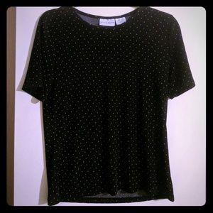 Vintage black polka dotted top